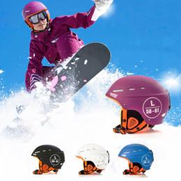 cascos ops core Rebajas Casco de esquí de invierno al aire libre patín de esquí patinaje equipo de protección de seguridad protección de impacto transpirable casco de goma