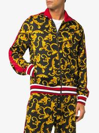 Nuevos éxitos online-Nueva marca de marea europea éxito collar de color chaqueta de béisbol chaqueta de punto chaqueta de lujo de los hombres