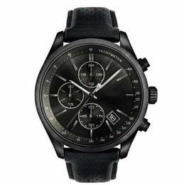 2018 Quarz Chronograph Herrenuhr Tachymeter Lederarmbanduhr 1513474 von Fabrikanten