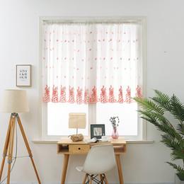 piuma di pavone giallo Sconti Mantovana mantovana tende voile ricamate piuma di pavone tulle trasparente per la casa soggiorno balcone finestra schermo cortina corta