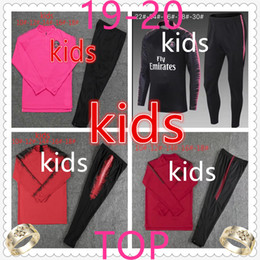 Vestiti da jogging per ragazzi online-psg Bambini 2019 2020 Kit da calcio mbappe tuta da allenamento di calcio tute di design per bambini vestiti firmati ragazzi Paris tuta da calcio da jogging