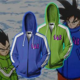 Hommes Zip Up Hoodies Z Super Vêtements De Veste 3D Vegeta Kid Goku Cosplay Anime À Capuche Cosplay Zip Up Sweat Manteaux ? partir de fabricateur
