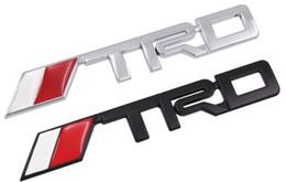 Acessórios corolla on-line-Carro TRD Logotipo 3D Corrida de Metal Adesivo Auto Emblema Emblema Decalque Para Toyota COROA REIZ COROLLA Camry VIOS Acessórios de Estilo de Carro