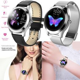 2019 pantalla táctil redonda reloj deportivo KW10 Moda Smart Watch IP68 Fitness Tracker para relojes de mujer Pantalla táctil redonda y encantadora Multi - Modo deportivo para iOS / Android rebajas pantalla táctil redonda reloj deportivo