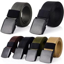 cinturon de hombre de plastico Rebajas Cinturón transpirable de lona casual al aire libre Táctico de secado rápido Cinturón de cintura para hombre Cintura con hebilla de plástico Cintura