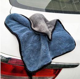 2019 cuidado de carro polonês Lavagem de polimento de cuidados com o carro Toalhas Lavagem de microfibra de pelúcia Toalha de secagem forte de fibra de poliéster de pelúcia grossa pano de limpeza do carro (varejo) cuidado de carro polonês barato