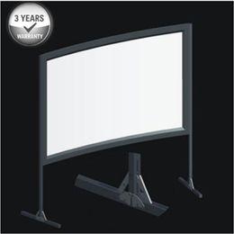 tela de tela dobrável Desconto F3WWAW-2.35: 1 ultrawide Som branco Tecido Acústico transparente 4K Curvo Quadro Fixo tela de projeção Projetor de cinema em casa