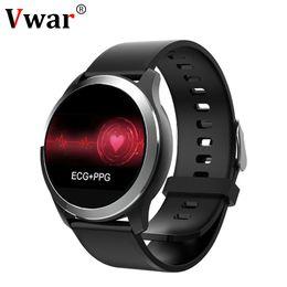 N59 Смарт Часы ECGPPG Сердечного ритма Артериального Давления Фитнес-Трекер Часы IP68 Водонепроницаемый Smartwatch для Android IOS Телефон VS N58 от