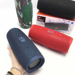 2019 telas de chão Bluetooth Speaker Charge 4+ Subwoofer Portátil Sem Fio À Prova D 'Água Handsfree Chamada Receptor Baixo Falantes com Pacote de Varejo