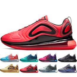 2019 zapatillas más calientes Nike air max 720 designer shoes Diseño de alta calidad barato Francia hombre y mujer calientes zapatillas Zapatillas de deporte de aire Entrenadores Hombre Negro blanco zapatillas más calientes baratos