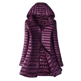 женские белые лыжные куртки Скидка 2019 осень-зима куртка женская утка вниз тонкий длинный парки дамы теплое пальто с капюшоном плюс размер 5XL 6XL ультралегкие верхняя одежда пальто