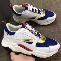 2019 zapatos deportivos de los hombres de moda B22 Sneaker Técnico de punto y Piel de becerro Moda para hombre Zapatillas de deporte de moda para hombre y mujer Zapatos de diseño Casual de malla transpirable zapatos deportivos Zx33 rebajas zapatos deportivos de los hombres de moda