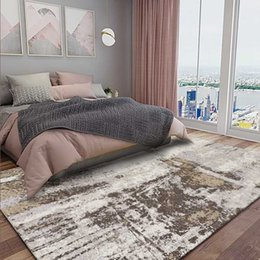 tapis de mousse Promotion Simple Nordic style Grande surface pour tapis Salon Chambre Plancher Tapis Absorbant Anti-Skid Tapis de chevet Table basse Tapetes
