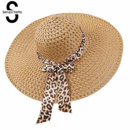 широкополая шляпа пляжа Скидка Новые женщины Summer Hat Широкий Брим Соломенная шляпка Летний пляж Шляпы Floppy Fold соломы ВС шляпы для женщин Девушки Dropshipping