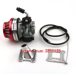 2019 filtro de ar do atv Frete grátis ATV 49cc Performance 19mm Carb Carburador Filtro de Ar Conjunto para 2 tempos 47cc 49 Cc Mini Pocket Bike Group-76 desconto filtro de ar do atv