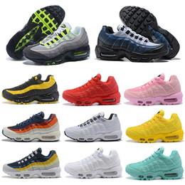 las tapas de las mujeres venden al por mayor Rebajas Nike Air Max 95 95s shoes Venta al por mayor para hombre para mujer clásico negro rojo deportivo superficie cojín transpirable zapatillas deportivas zapatillas 36-45