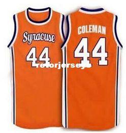 Syracuse trikot online-Günstige # 44 Derrick Coleman Syracuse Orange 1996 Vintage Basketball Jersey College Throwbacks genähte Trikots angepasst jeden Namen und Nu