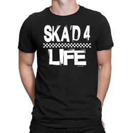 2019 guitare de la vie T-shirt Homme SKAD 4 LIFE Ska Jazz Blues Guitare Électrique Basse Danse Musique Nouveauté guitare de la vie pas cher