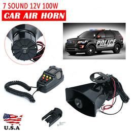 2019 carcasa remota de toyota Sistema de altavoz del MIC 100W 12V 7 sonido fuerte alarma del coche policía Fuego Cuerno de sirena PA