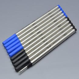 Alta qualità Black and Blue 0,7 millimetri Rullo di Penna MB Refill Scolastici Ufficio Affari di cancelleria penna del gel di 710 ricariche scrivere liscio da coloranti d'acqua fornitori