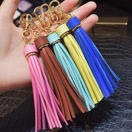 Llavero de borla de cuero PU de oro personalizado para mujer, llavero con encanto, accesorios de joyería para equipaje diy, joyería de regalo para el día de San Valentín desde fabricantes