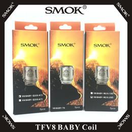 V8 baby x4 bobina online-SMOK TFV8 Baby Coil V8 Baby-T8 T6 X4 M2 Q2 núcleos para TFV8 Baby Beast Tank 100% SMOK E cigarrillos originales Vape