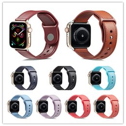 Новое поступление натуральная кожа + тпу смарт ремешок для часов ремешок для Apple, часы 4 3 2 1 полосы 38 мм / 40 мм + 42 мм / 44 мм iwatch аксессуары от Поставщики apple умный смотреть iwatch ремешок