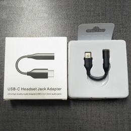 Usb männlich aux kabel online-Typ-C zu 3,5 mm Kopfhörer-Kabel-Adapter USB 3.1 Typ C USB-C-Stecker auf 3,5 AUX Audio-Klinke Buchse für Samsung Galaxy A60 A6S A80 Anmerkung 10