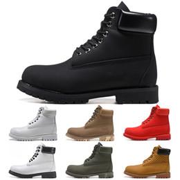 2019 mujeres de la oficina visten el sexo Timberlandbotas para hombres de lujo del diseñador para hombre botas de invierno de las nuevas mujeres militares Triple Blanco Negro Camo botines azules 36-45 nieve