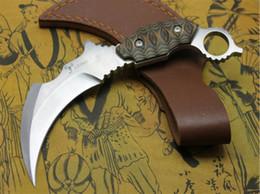 couteaux de karambit de scorpion Promotion Couteau de griffe de scorpion déformé karambit griffe 8cr18mov lame K gaine de Noël gife couteau griffe pour homme