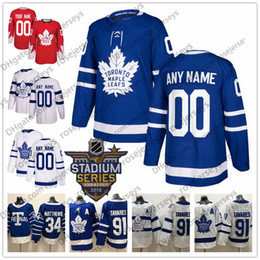 Kadri jersey online-Custom Toronto Maple Leafs White Stadium Series Blue Jersey Any Number Name hombres mujeres jóvenes chico Marner Kapanen Kadri Rielly Matthews Tavares