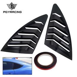 2019 papel de embrulho de fibra de carbono Traseira Traseira Janela Grelhas 2 pçs / set Spoiler Painel para Scion FRS para Subaru BRZ para Toyota 86 GT86 2013-2018 ABS Adesivos PQY-WLS05