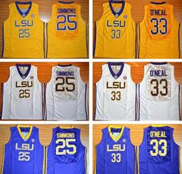 sale retailer 51dec f19ba gold-basketball-trikots Rabatt LSU College-Basketball-Trikot Ben Simmons  nähte Shaquille