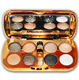 High Qual Glitter Eyeshadow With Brush Face Makeup Cosmetics Shiny Eye Shadow Palette 8 Colors Eyeshadow For Makeup от