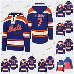 maglia hockey 52 Sconti 20 Pete Alonso Mets con cappuccio in jersey 48 Jacob deGrom 18 Darryl Strawberry baseball Maglie Mets 16 Gooden 34 Noè 17 Hernandez 52 Cespedes
