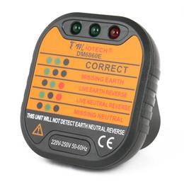 enchufe uk principal Rebajas Uxcell Dm6860e Hembra de red eléctrica probador de salida Neutro Live Earth detección del medidor enchufe de pared del Reino Unido 220V-250V