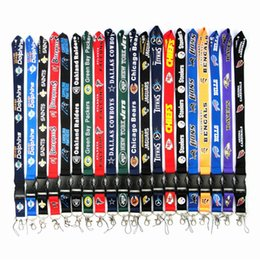 rugby charms Coupons - Cell Phone Straps Charms Rugby Team Dallas Cowboy Sling Lanyard Key Chains Webbing Card Work Lifting Rope Hanging Ornaments 38 Styles