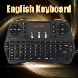 2019 беспроводной google tv English / Russian Touchpad 2.4G Wireless Air Mouse Keyboards Ergonomic,Gaming,Remote Controller for Google/ Andriod TV Box скидка беспроводной google tv