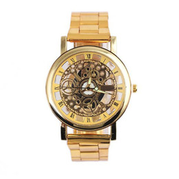 механические часы механизма Скидка Men Watch Fashion Steel Strip Mechanical Gear Watch Man watches mens 2019 men wristwatch clock relogio masculino