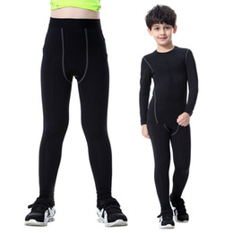 pantalones ajustados de piel negra Rebajas Secado rápido Niños Niños Niño Chicas Compresión Ciclismo Pantalones Bicyle largos negros Pantalones ajustados de piel NUEVO