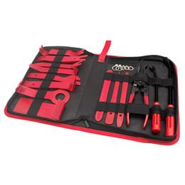 Installatore dell'automobile online-24pcs Car Trim Removal Tools Kit pannello Auto Dash Audio Radio rimozione Installer Repair leva di rimozione Fastener corredo di attrezzi con il sacchetto di immagazzinaggio