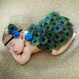 2019 neugeborenes blumenkostüm Neugeborene Fotografie Kinder Pfauenblume Fotografie Kostüme Studio Baby Pfau Prop Pfau Anzüge günstig neugeborenes blumenkostüm