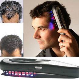 Laser cabelo crescimento terapia on-line-1 conjunto de Crescimento Do Cabelo A Laser Elétrico Pente Escova de Cabelo Laser Parar Perda de Regredura Terapia Pente Ozônio Infravermelho Massageador Drop Shipping