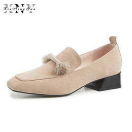 2019 квадратные носки Women Shoes Quality Handmade Flats Genuine Leather Square Toe Slip-on Casual Oxford Women Shoes Soft Low Heels Office Lady Flat дешево квадратные носки