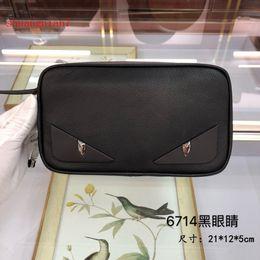 трендовый мужской кошелек Скидка 2019 luxe off Высококачественная белая модная мужская сумка-клатч из натуральной кожи