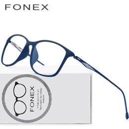 6a1ff046d9 TR90 Titanium Optical Glasses Frame Men 2018 New Full Square Myopia Eye  Glass Prescription Eyeglasses Korean Screwless Eyewear