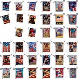 2019 piante paesaggio progettazione Bandiere USA di vendita calda stampa fronte-retro Giardino Bandiera Bandiera americana Bandiera del giardino decorazione del partito 4734