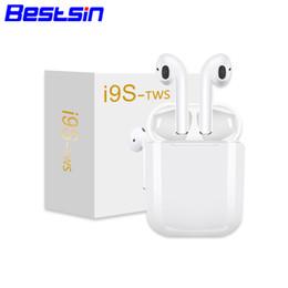 Canada Bestisn I9S-TWS v5.0 Bluetooth Écouteur Sans Fil Musique Mains Libres Pilote de Voiture Téléphone Stealth Écouteurs Avec Micro Pour Iphone XSMAX supplier iphone mic Offre
