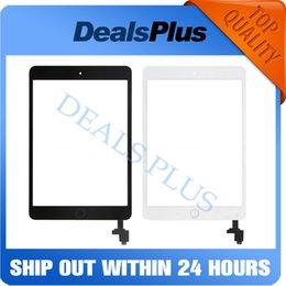 2019 samsung tab branco Substituição New Touch Screen digitador com IC + botão Home + Flex iPad Cabo Para Mini 1 A1432 A1454 A1455 Mini 2 A1489 A1490