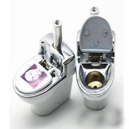 2020 fumatori Tubi di acqua creativi bianchi all'ingrosso di tubi di fumo Mini tubi di tabacco staccabili economici della toilette per il materiale metallico di viaggio Mini Pieple della toilette fumatori economici